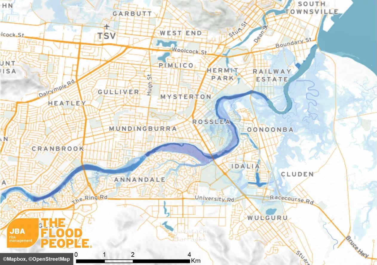 Map Of Australia Townsville.A Retrospective Of 2019 Townsville Flooding Jba Risk Management